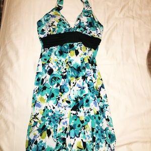 Short semi-formal halter dress